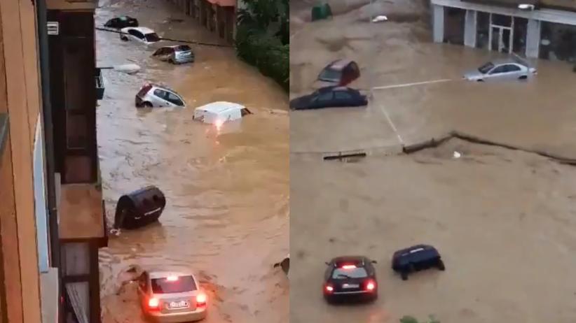 Pogoda. W Hiszpanii ulewy i powodzie. Nurt porywał wszystko na swojej drodze