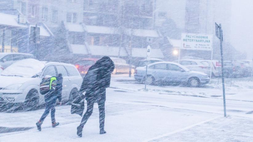 Zima, śnieżyca