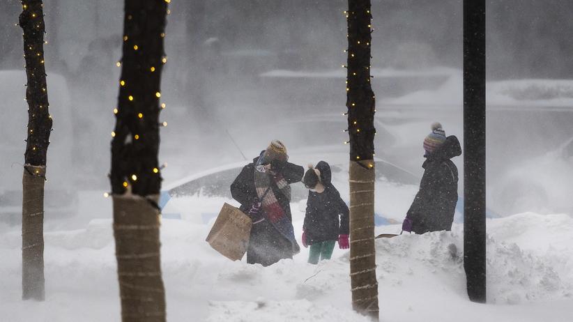 Śnieżyca w Nowym Jorku