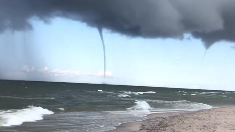Trąba powietrzna nad Bałtykiem