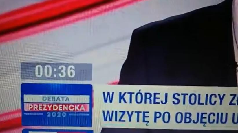 Debata wyborcza TVP i tajemniczy zegar