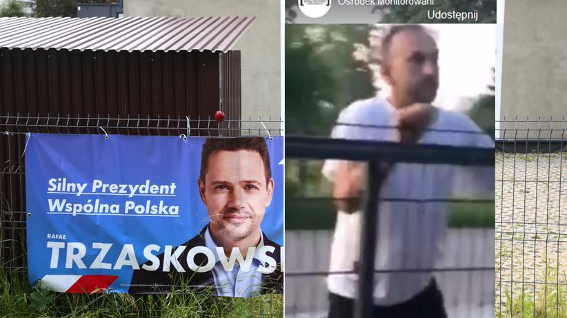 przeciwnik Trzaskowskiego zaatakował kobietę