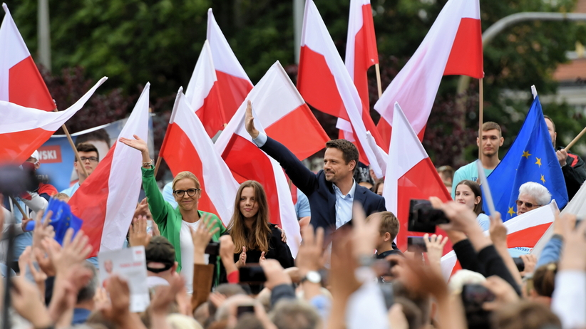 Rafał Trzaskowski z rodziną w Szczecinie