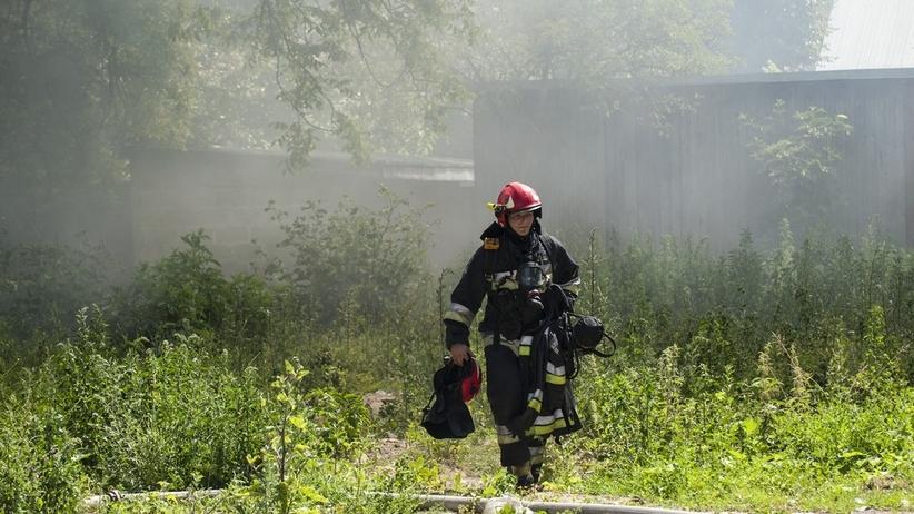 Tragedia w łódzkiem. Spłonął domek letniskowy, nie żyje jedna osoba