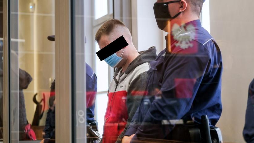 Piotr Sz. podczas procesu