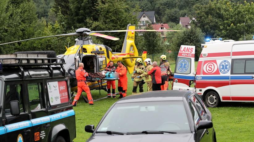 Burza w Tatrach. Blisko 140 rannych w małopolskich szpitalach