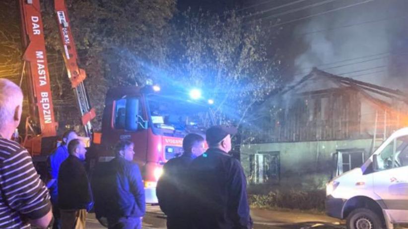 Pożar domu w Dąbrowie Górniczej