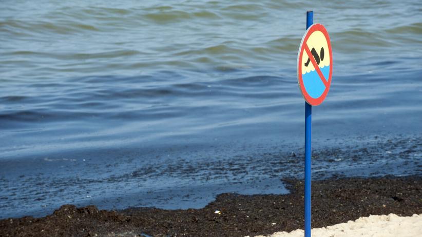Zamknięte kąpielisko nad Bałtykiem - zdjęcie ilustracyjne