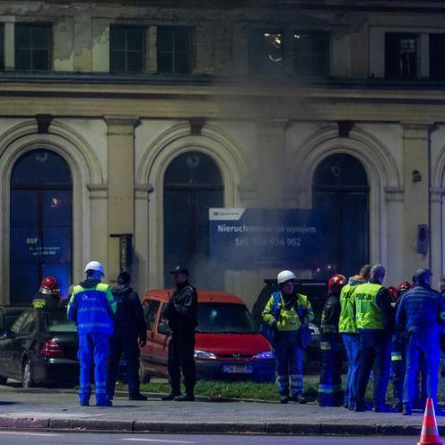 Dworzec Świebodzki we Wrocławiu. Gaszenie pożaru zakończone