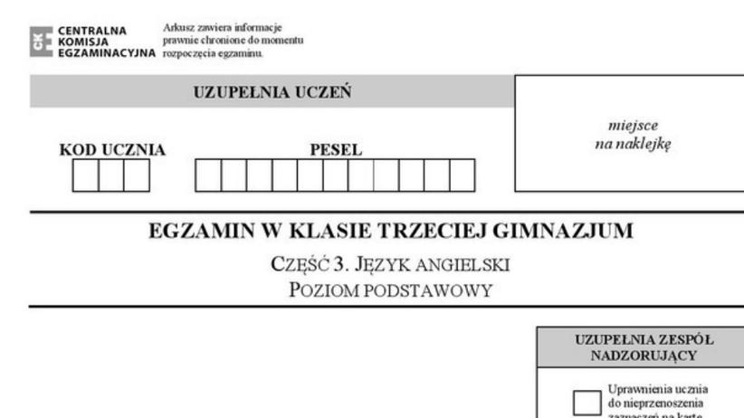 Egzamin gimnazjalny 2017: język obcy ARKUSZE
