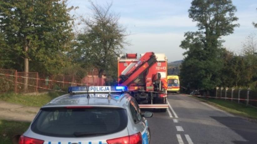 Wypadek w Gilowicach