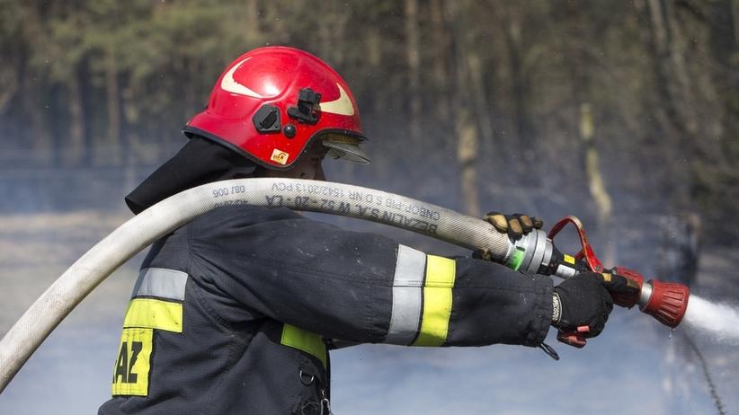 Pożar domu rodzinnego. Obok w krzakach znaleziono nieprzytomną kobietę z ranami kłutymi