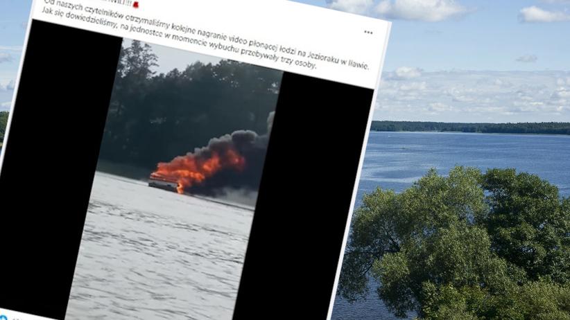 Eksplozja motorówki na jeziorze Jeziorak