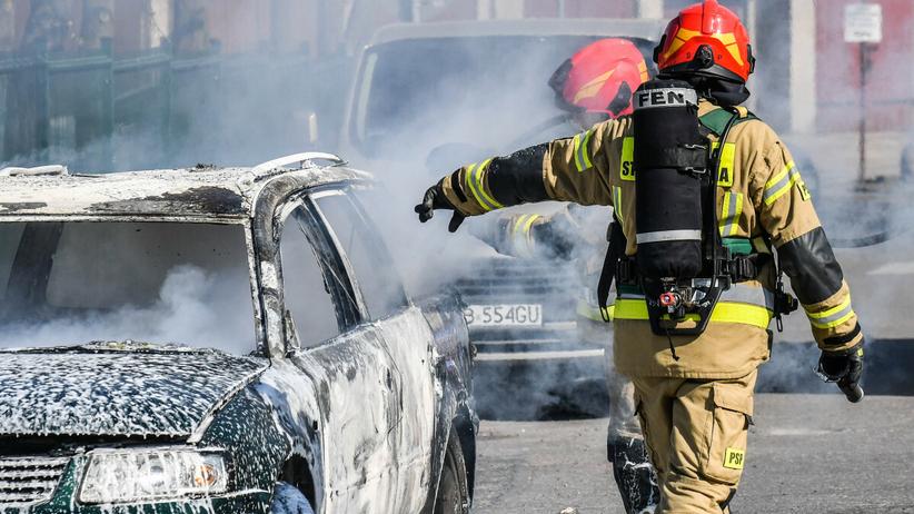 Kłodawa. Spalony samochód, zwłoki, zarzuty dla 35-latka