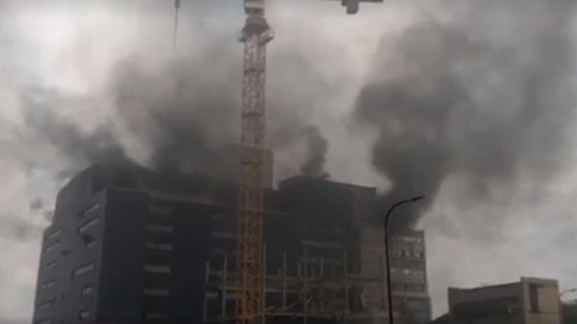 Poważny pożar w kopalni. Płonie taśmociąg do płukania węgla