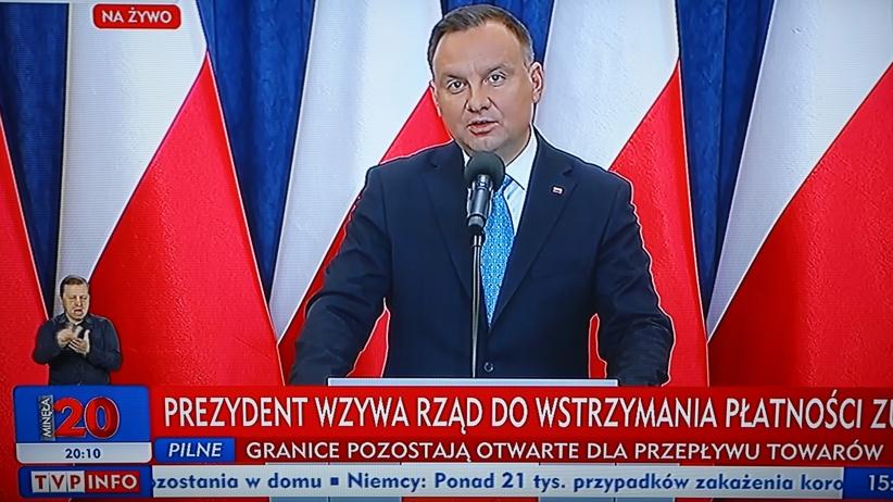 Prezydent zapowiada czasowe zwolnienie ze składek na ZUS w dobie koronawirusa
