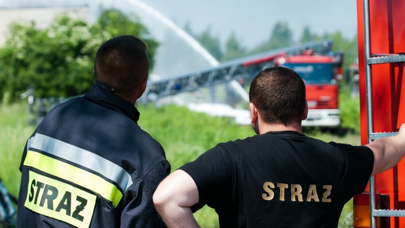 Pożar rozlewni gazu w Krakowie