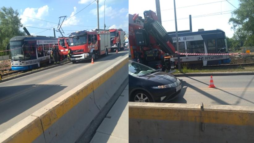 Kraków. Tramwaj linii 78 wykoleił się między Borkiem Fałęckim a Łagiewnikami