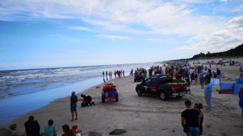 Łeba. Akcja poszukiwawcza na plaży. Poszukiwania turystki z Czech zakończone
