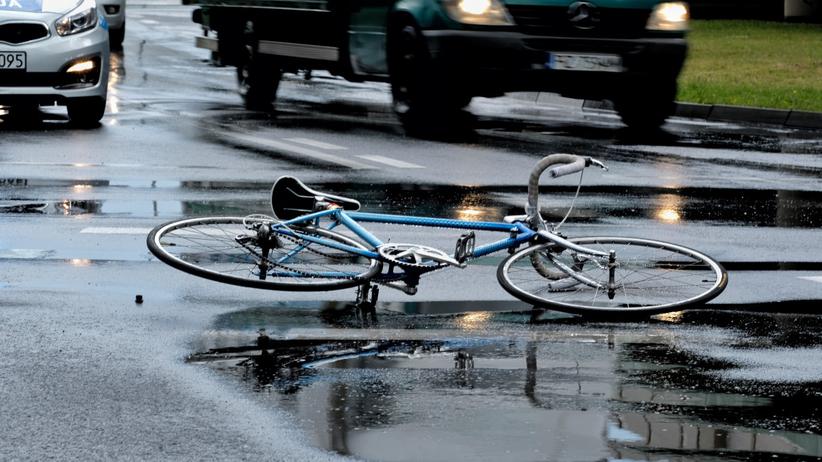 Wypadek rowerzysta