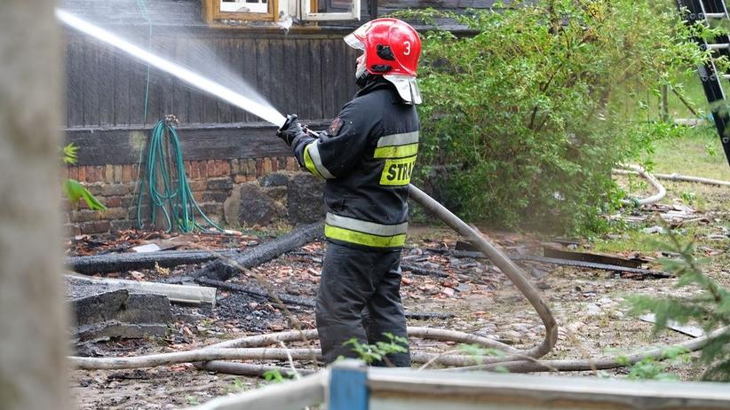 Tragiczny pożar ogródków działkowych. Znaleziono spalone ciało