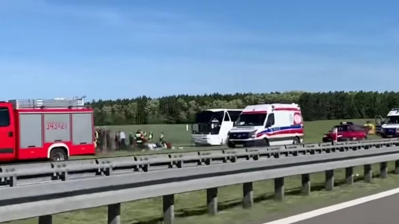 Lubuskie: Stracił panowanie nad autobusem z dziećmi. Pięciu rannych pasażerów