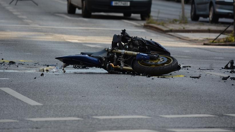 Motocyklista wypadek