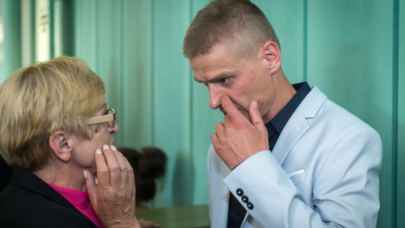 Tomasz Komenda z mamą Teresą
