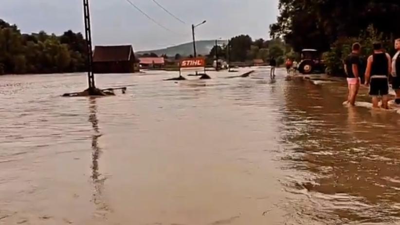 powódź błyskawiczna Myślenice