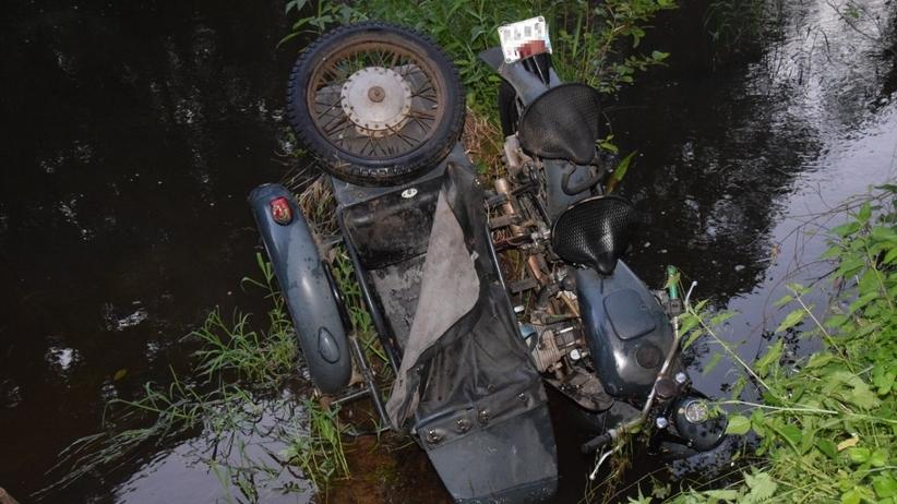 Zwłoki motocyklisty w rzece Czarnej