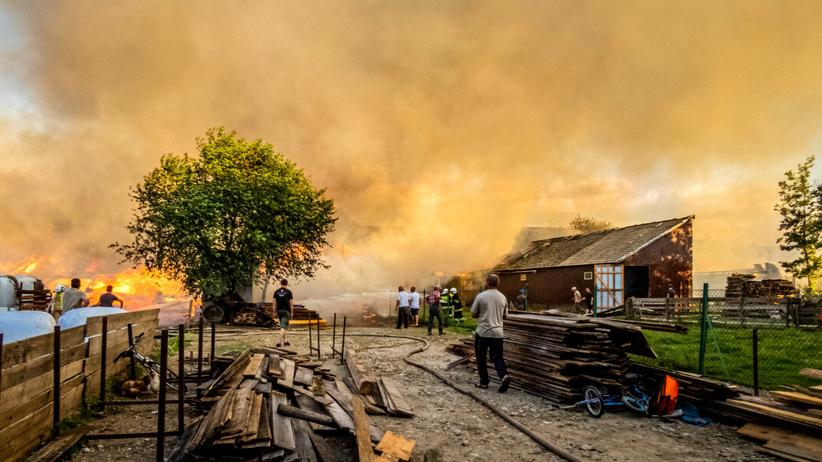 Nowa Biała - pożar zniszczył wieś.