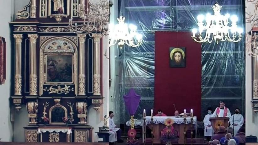 msza święta w kościele w nowym sączu