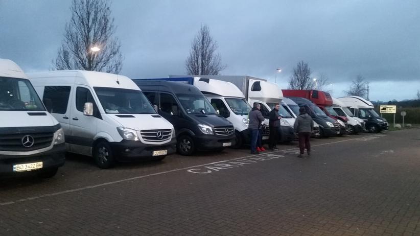 polscy kierowcy utknęli w Wielkiej Brytanii