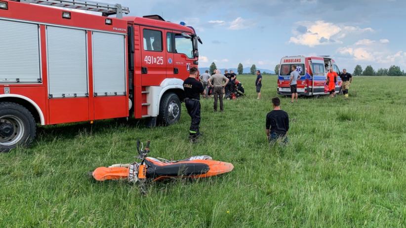 Nowy Targ. Tragedia na lotnisku. Nie żyje 21-latek