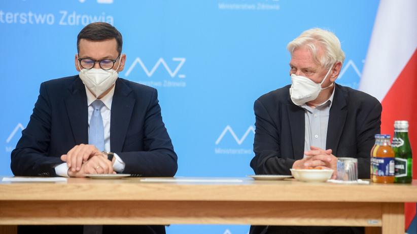 prof. Andrzej Horban i Mateusz Morawiecki