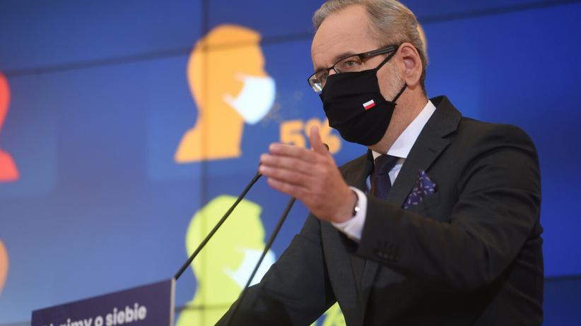 Konferencja ministra zdrowia Adama Niedzielskiego