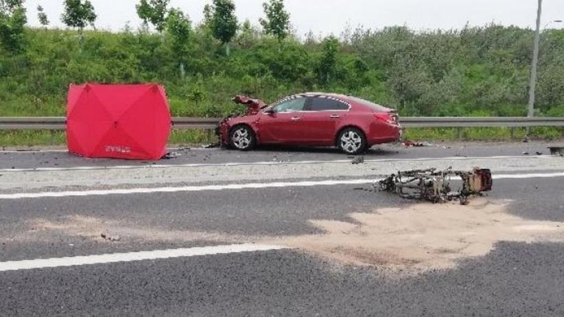 Śmiertelny wypadek w Olecku. Samochód zderzył się ze skuterem