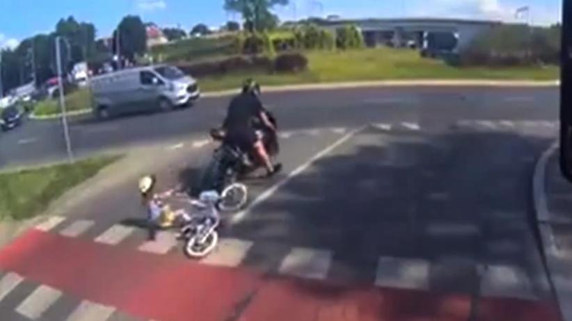 Potrącenie rowerzystki