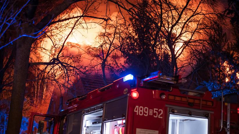 pożar pod Białogardem