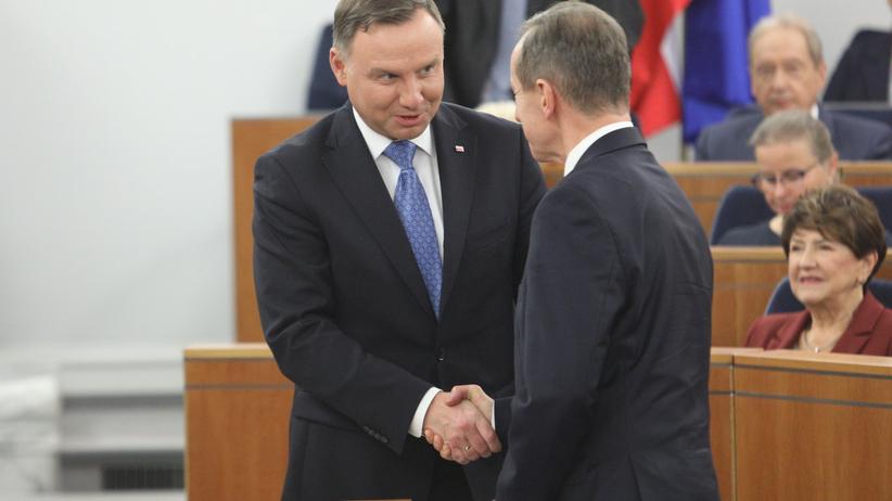 Andrzej Duda spotka się z Tomaszem Grodzkim. Będą rozmawiać o tzw. ustawie kagańcowej