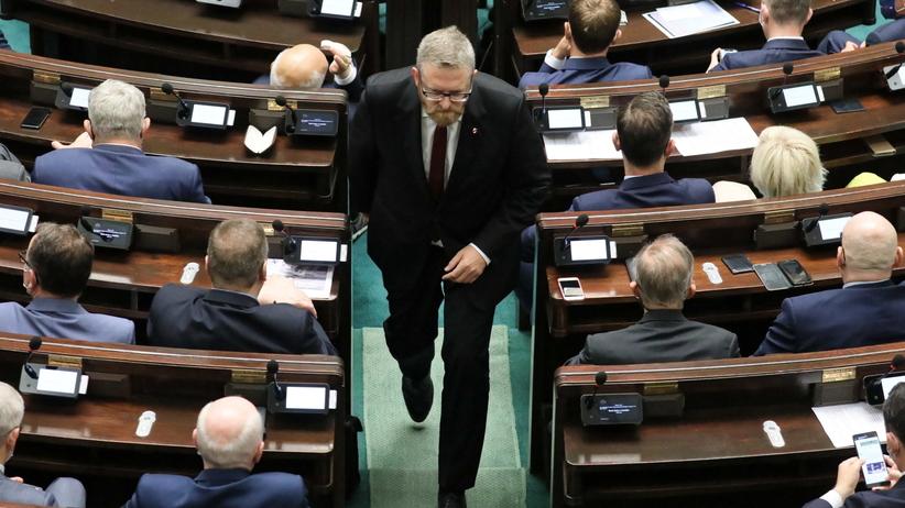 Grzegorz Braun wykluczony z obrad Sejmu