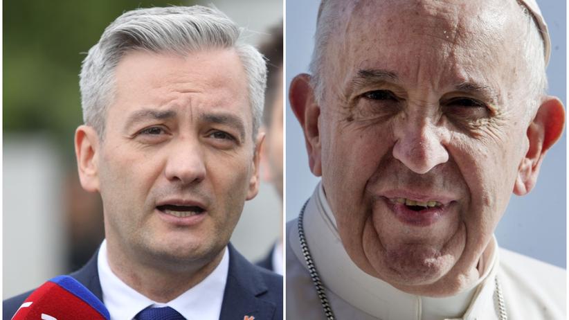 Biedroń pisze do papieża