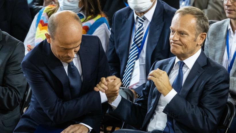Borys Budka i Donald Tusk