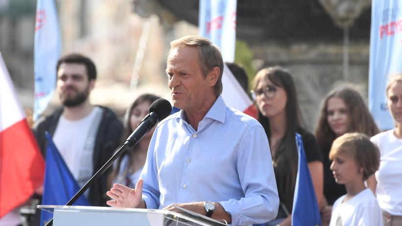 Donald Tusk w Gdańsku, 19 lipca 2021