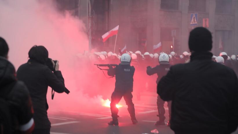 Starcia policji i uczestników marszu