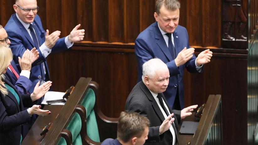Jarosław Kaczyński po expose premiera Morawieckiego