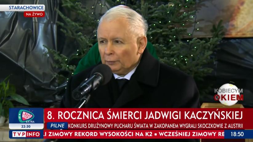 Jarosław Kaczyński bez maseczki