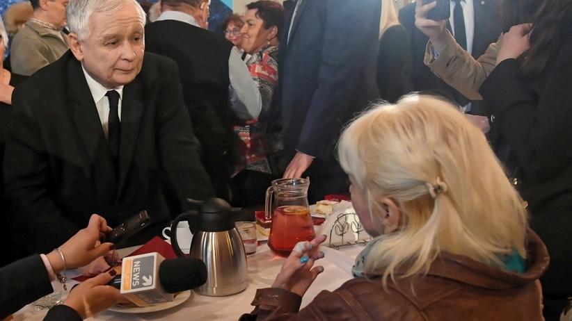 Kaczyński do niepełnosprawnej: prośba, żeby nas popierać, a nie przeszkadzać