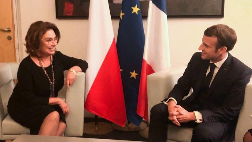 Kidawa-Błońska i Macron