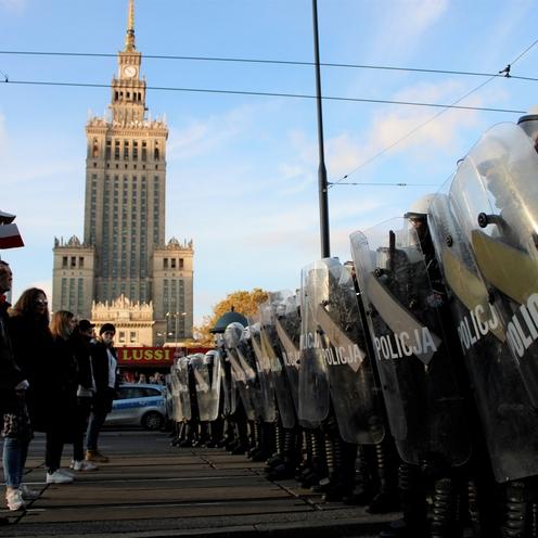 protest antycovidowców w Warszawie